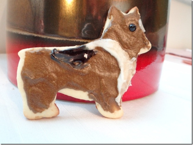 corgi sugar cookie